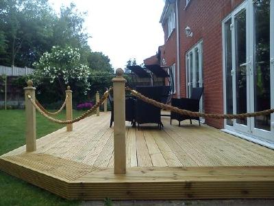 Abbey Decking Systems Fencing Services Derby Derbyshire - Garden decking rope