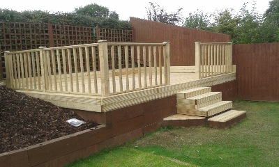 Raised decking kits excellent trex decking pricing azek for Cheap decking kits sale