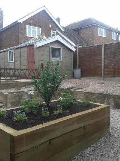 Abbey decking systems fencing services derby for Low maintenance gardens for the elderly